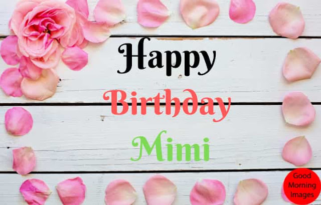 Birthday cake images with name mimi
