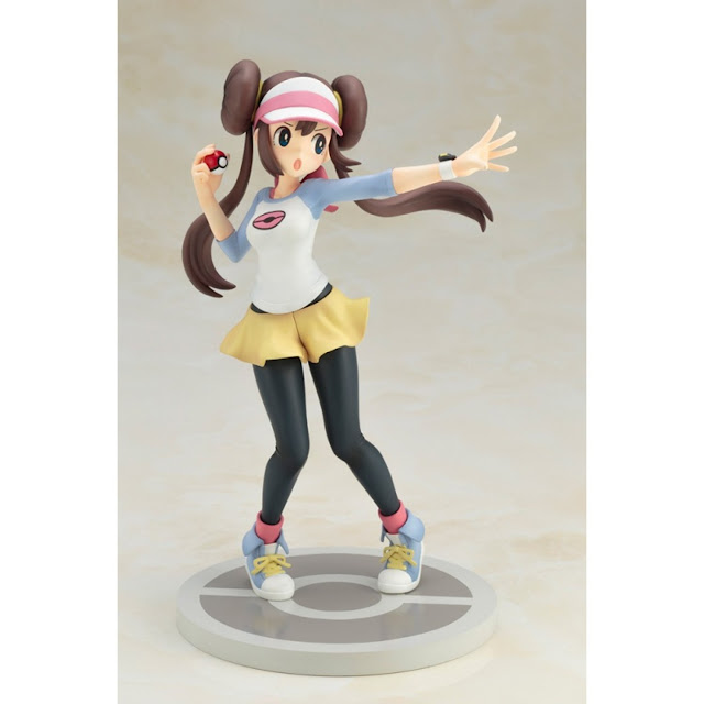 Echa un vistazo a esta figura de la entrenadora de Pokémon Blanco y Negro junto con su Snivy