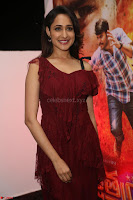 Pragya Jaiswal in Stunnign Deep neck Designer Maroon Dress at Nakshatram music launch ~ CelebesNext Celebrities Galleries 051.JPG