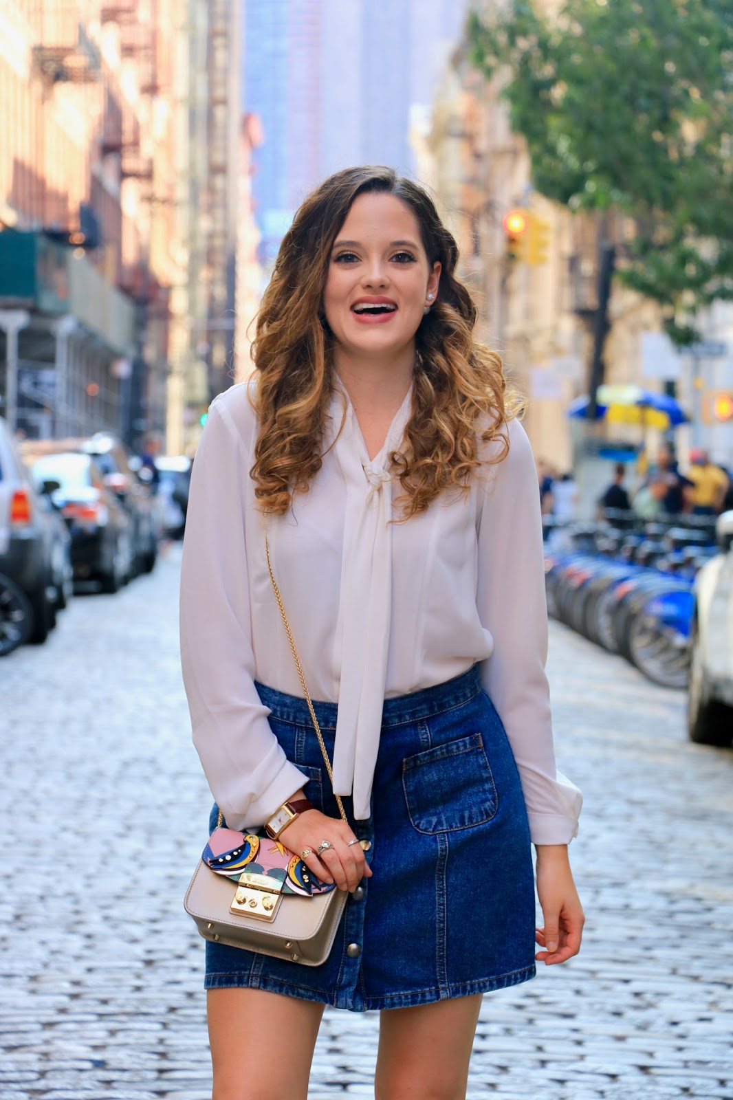 Fashion blogger Kathleen Harper showing off fall work outfit ideas