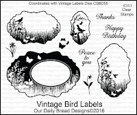 ODBD Vintage Bird Labels