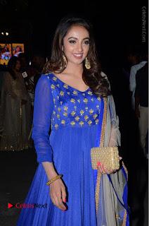Telugu Actress Tejaswi Madivada Pos in Blue Long Dress at Nanna Nenu Na Boyfriends Audio Launch  0078.JPG