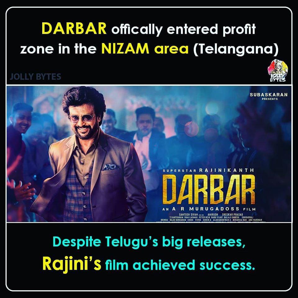 Darbar Telugu collectons - Darbar Movie report