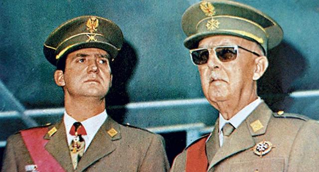 Juan Carlos de Borbón sucesor de Franco y rey de España