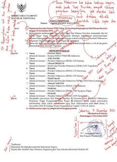 Typo Tingkat Dewa, Surat Stafsus Milenial Jokowi Direvisi Warganet Layaknya Skripsi