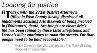 Lauren Whitener Aric Maxwell Wise County Murder Barry Green Attorney