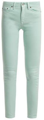 Acne Studios - Climb High Rise Skinny Leg Jeans - Womens - Teal