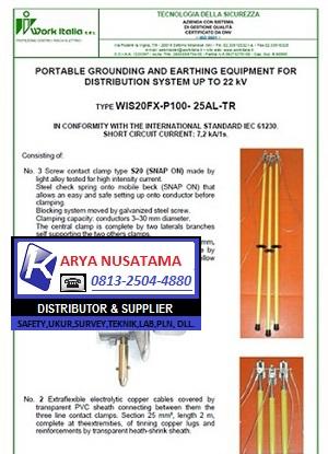 Safety Tool Untuk Grounding Tegangan 150kv