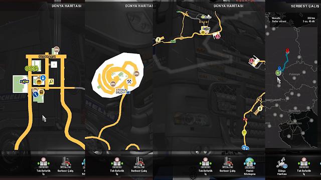 ets 2 google maps navigation v1.7 screenshots 3