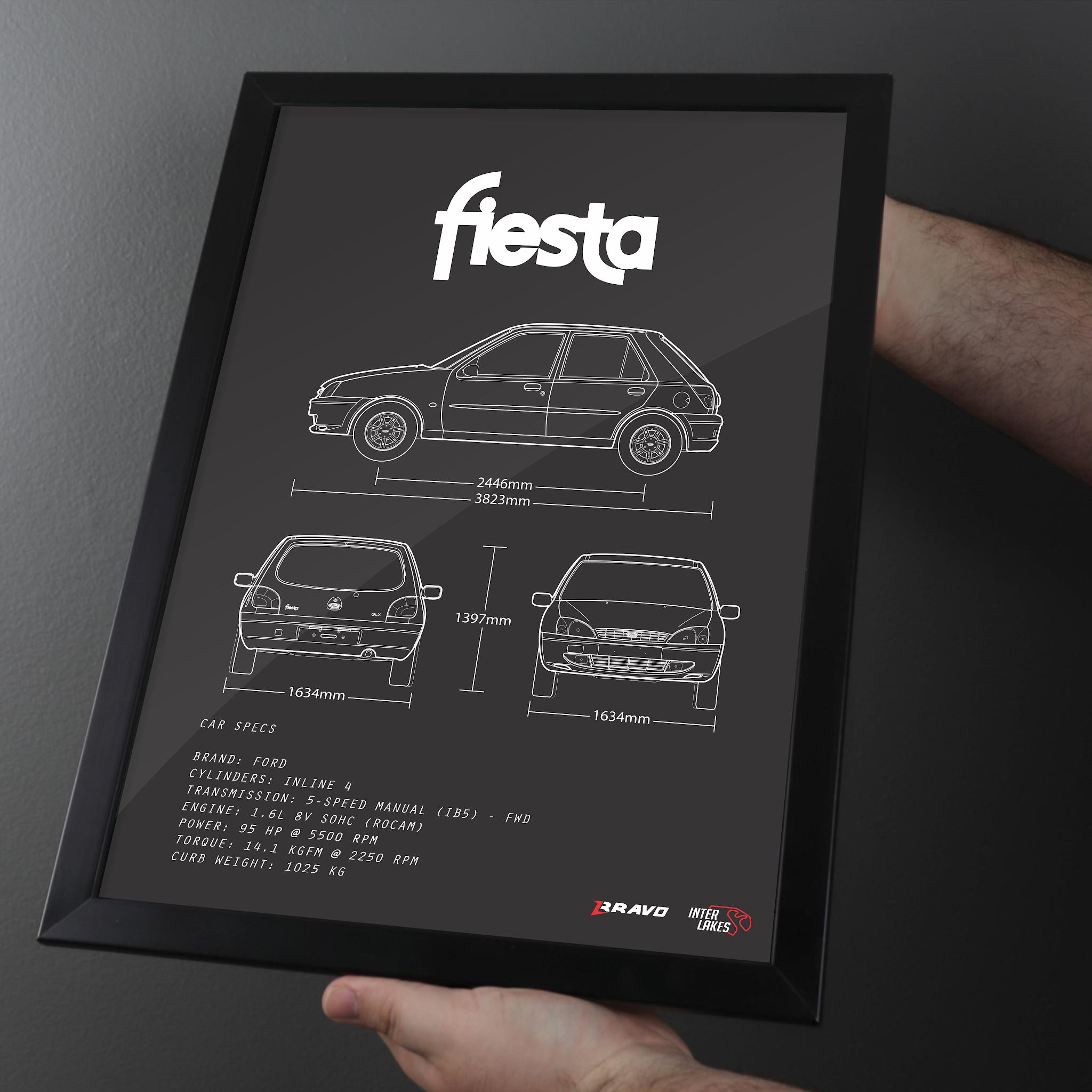 Imagem mostrando o quadro do Ford Fiesta GLX 1.6 (Hatch 4p) 2000 por Interlakes