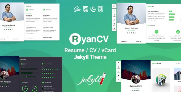 Best Resume CV & vCard Jekyll Theme