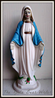 May: the month of Mary (a statue of Mary)