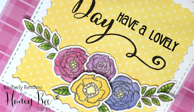 flowers | clear stamps | kimpletekreativity.blogspot.com | honey bee stamps