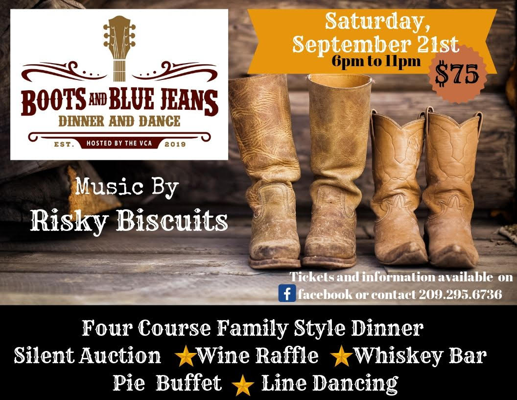 Boots and Blue Jeans Dinner & Dance - Sat Sept 21