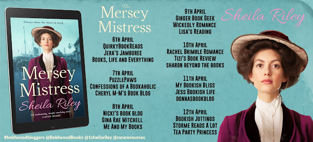 The Mersey Mistress by Sheila Riley blog tour banner