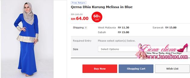 Qerna Dhia Kurung Melissa in Blue