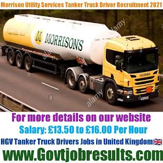 Morrison Utility Services HGV Tanker Truck Driver Recruitment 2021-22