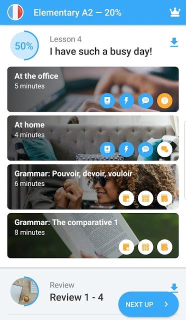 ללמוד שפה באפליקציה