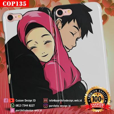 Model casing handphone couple pasangan muslim terbaru COP135