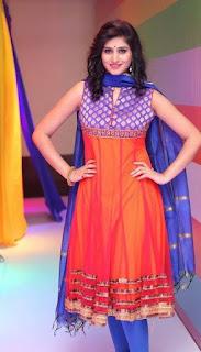 Shamili In Blue Churidar Salwar kameez At Big Bazaar (1)
