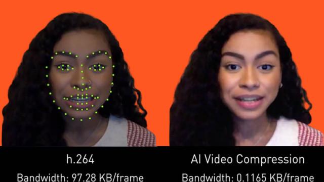 NVIDIA تستخدم  الذكاء الاصطناعي لخفض النطاق الترددي لمكالمات الفيديو