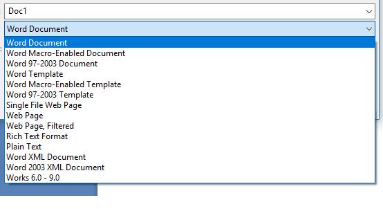 Save as dokumen