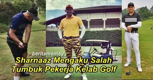 Sharnaaz Mengaku Salah Tumbuk Pekerja Kelab Golf.. Didenda Mahkamah