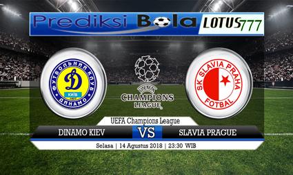 PREDIKSI SKORE DINAMO KIEV VS SLAVIA PRAGUE 14 AGUSTUS 2018