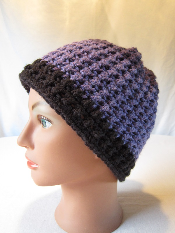 crochet, free pattern, hat, slouchy, Caron Cakes, Bumbleberry, double crochet cross stitch, Faerie's Enchantment Hat
