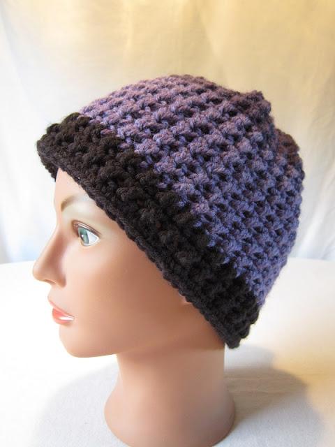 crochet, free pattern, hat, slouchy, Caron Cakes, Bumbleberry, double crochet cross stitch, Faerie's Enchantment Hat