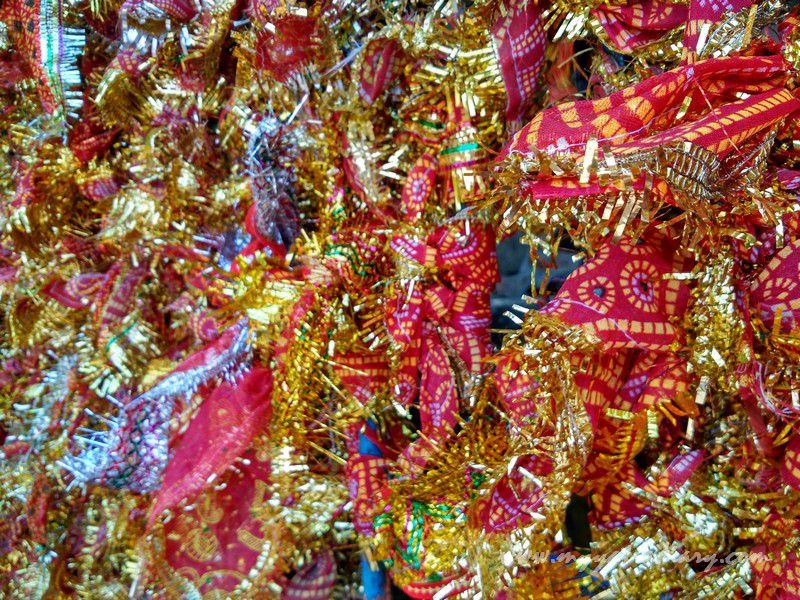 Red Chunris - Mahakalika Temple, Pavagad, Champaner Gujarat