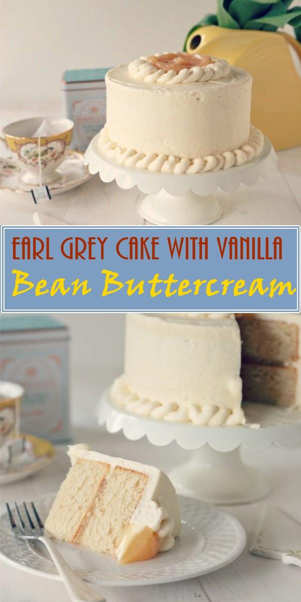 Earl Grey Cake with Vanilla Bean Buttercream #cakerecipes