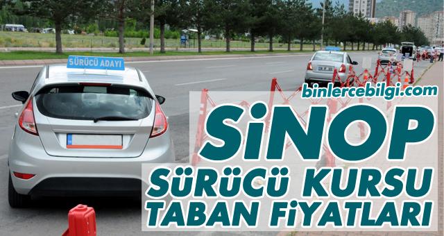 Sinop Sürücü Kursu Fiyatları 2021, Sinop Sürücü Kurslarında uygulanan ehliyet taban fiyatları listesi.