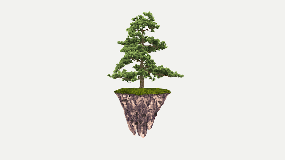 tree-floating-with-ground-wallpaper-minimalist