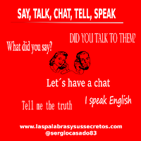 Diferencia entre speak, talk, say, tell y chat, inglés, aprender inglés, confusing words, dudas del inglés, palabras confusas en inglés
