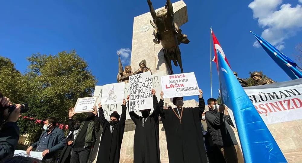 VIDÉO : «Contre ceux qui osent insulter notre prophète...!» un défilé anti-Macron à Istanbul prend fin sans même avoir commencé
