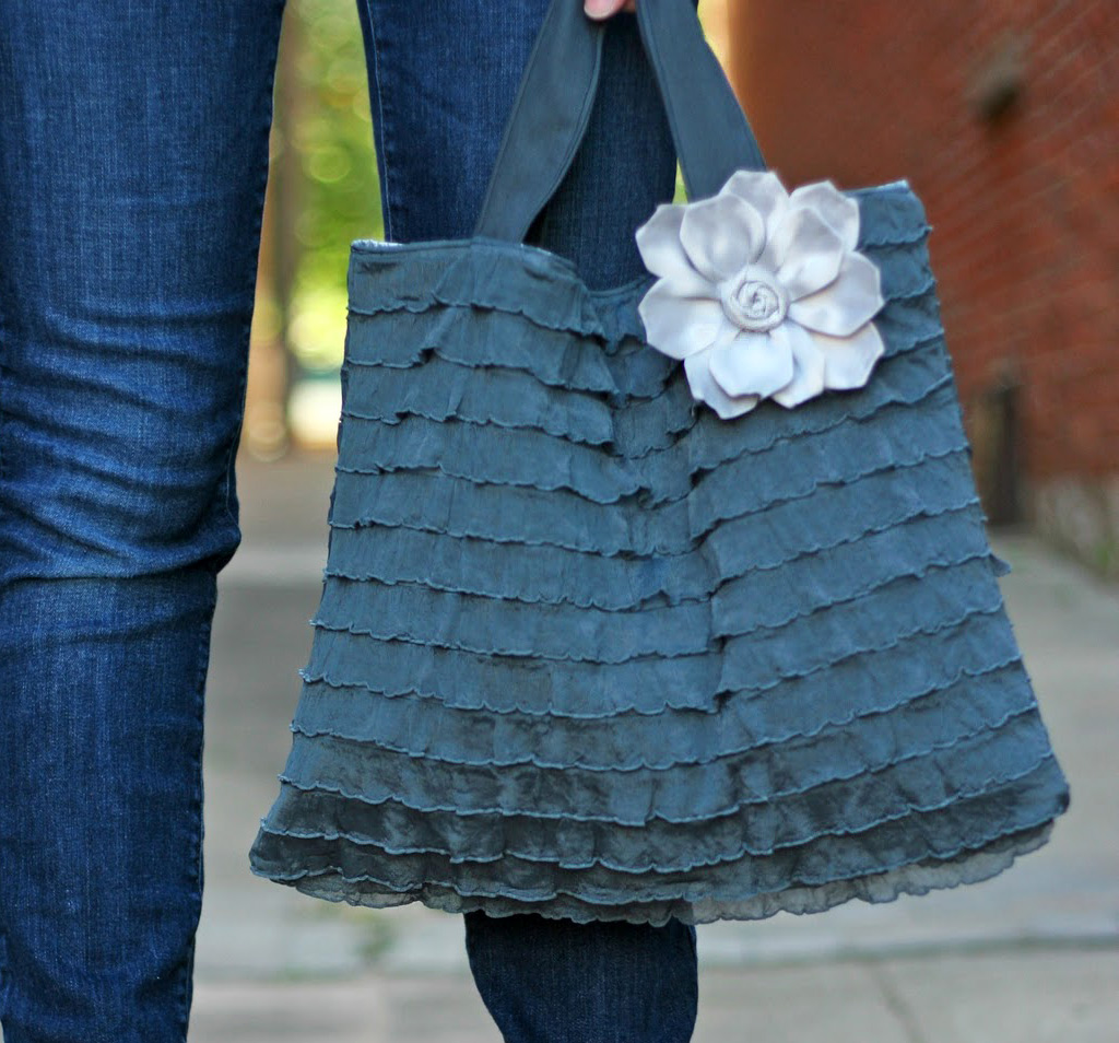 Bag using Ruffle Fabric Tutorial