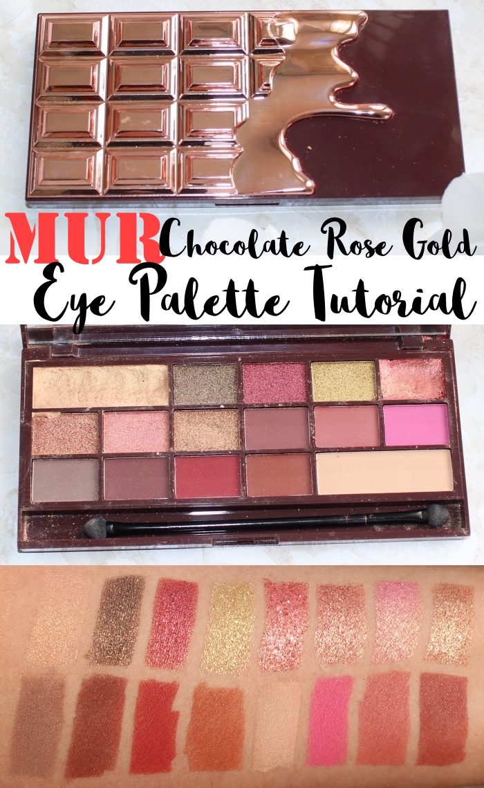 Review, a makeup tutorial, and  swatches of the Makeup Revolution Chocolate Rose Gold Eyeshadow Palette, an affordable dupe for the Huda Beauty Textured Eyeshadow Palette.