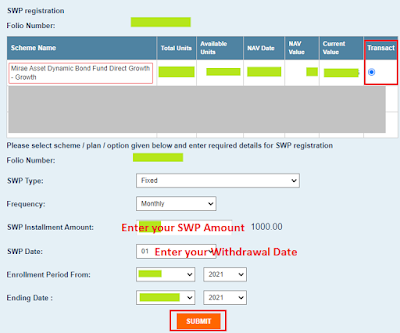 How To Start SWP In Mirae Asset Mutual Fund