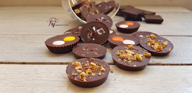 Chocolatinas caseras, regalo de navidad