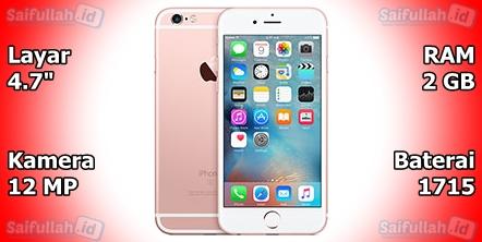 Apple iPhone 6s - Spesifikasi, Harga, Kelebihan, Kekurangan