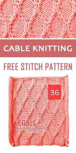Twist stitch, Free Stitch Pattern 36