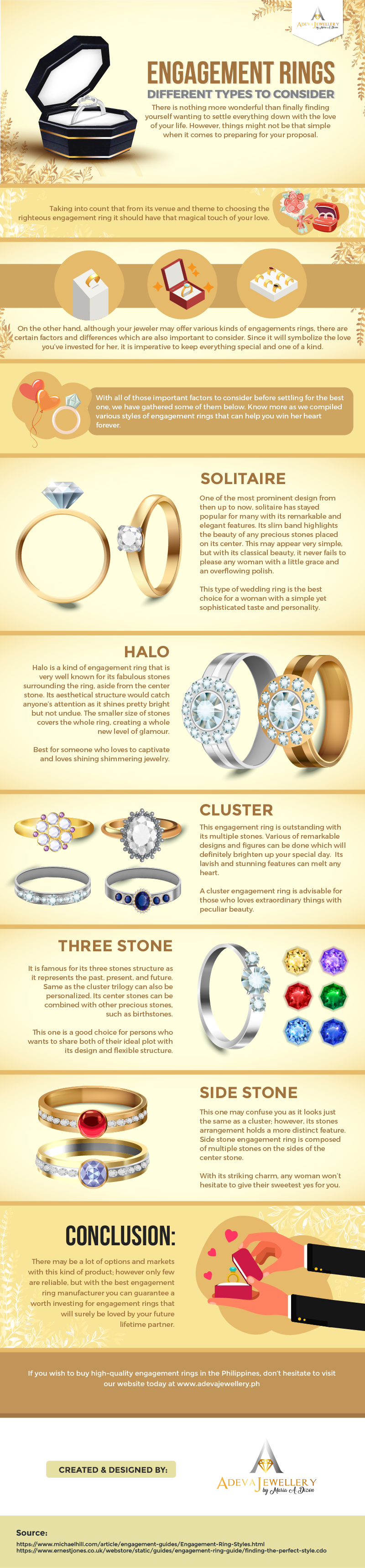 Engagement Rings: Different Types to Consider #infographic