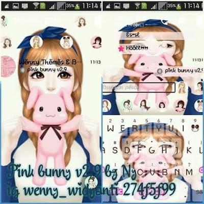 Download BBM Mod Pink Bunny v2.9 Terbaru
