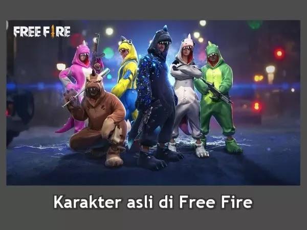 Karkater Free Fire yang di ambil dari Tokoh asli