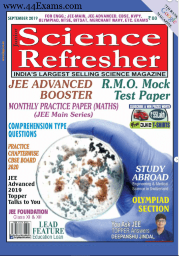 Junior-Science-Refresher-September-2019-For-IIT-JEE-Exam-PDF-Book