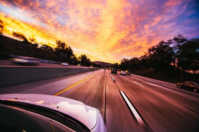 Car, Road, long road, sunset
