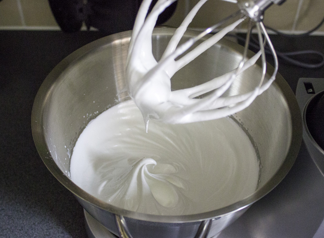 whisking egg whites