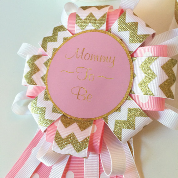 southern gal pink and gold mommy to be pin baby girl baby shower
