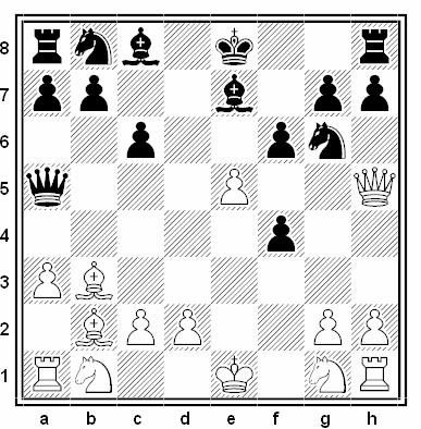 Posición de la partida de ajedrez Boris Katalymov - Georgy Ilivitsky (Torneo de Candidatos a Maestro, Frunze, 1959)